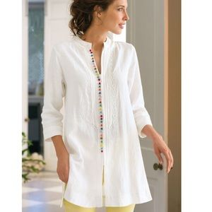 Soft Surroundings Desert Tunic White